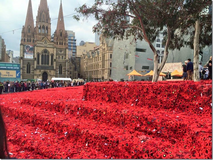 anzac day 5000 poppies