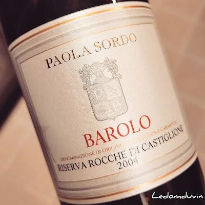 Paola Sordo Barolo Rocche di Casteglione 2004 by ©LeDomduVin 2021