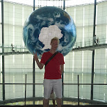 matt & the world at the Miraikan Museum of Emerging Science and Innovation in Odaiba, Tokyo, Japan