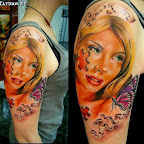 women puzzle arm - Face Tattoos