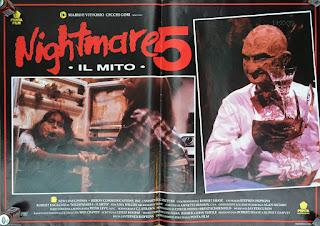 Italian Lobby card Nightmare 5 4 of 4  26x19 #1