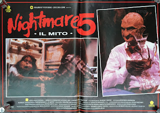 Italian Lobby card Nightmare 5 4 of 4  26x19 #1