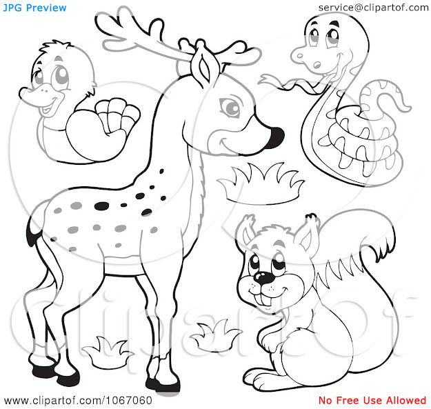 Clipart Outlined Forest