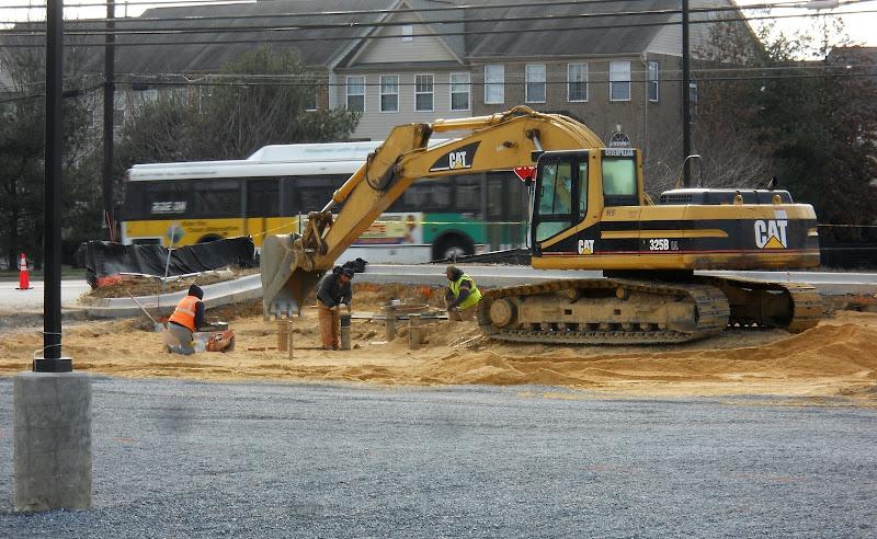 Final digging in parking lot
