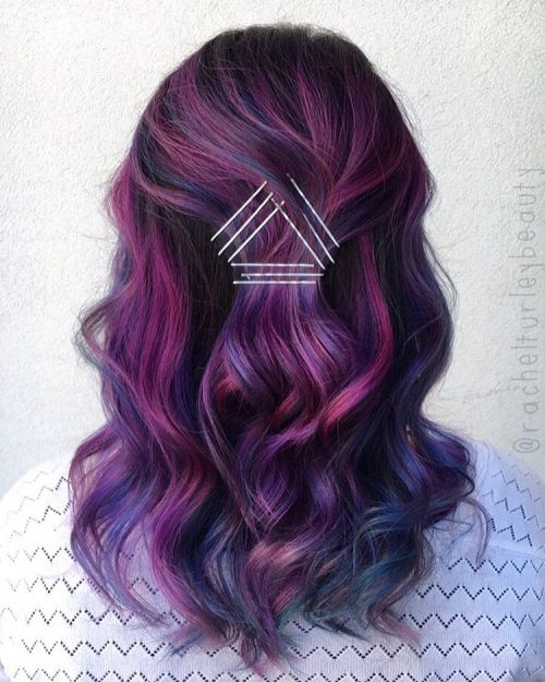 Plum hair color a beautiful contrast for woman 2018 10