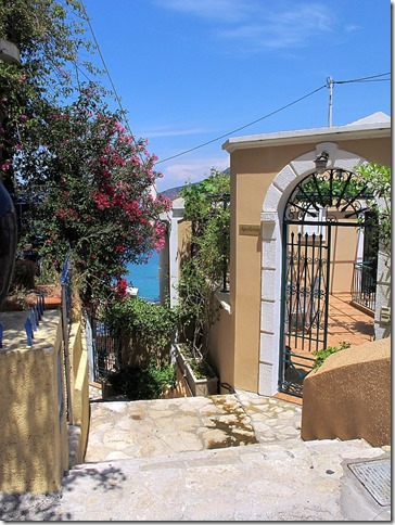 house with view of sea on assos greece photo by sue wellington