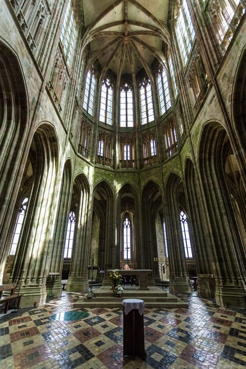 Interior Mont St Michel Abbey
