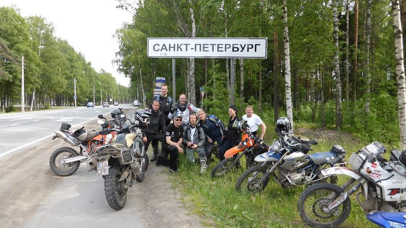 Sankt Petersburg Stadtschild in Russland