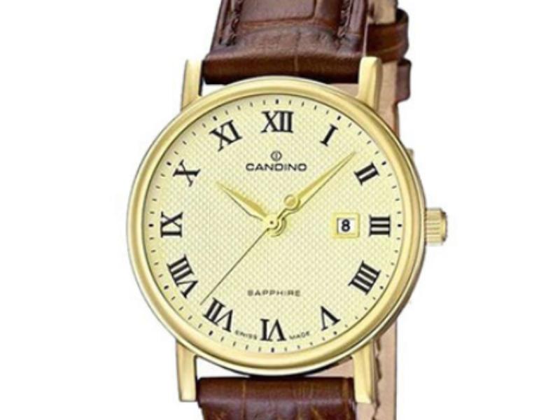 Các chi tiết vạch chia, kim, số,... trên mẫu đồng hồ Candino chính hãng nữ này đều đều được in rõ nét