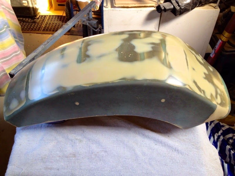 Custom fiberglass rear fender for M800 IMAGE_71