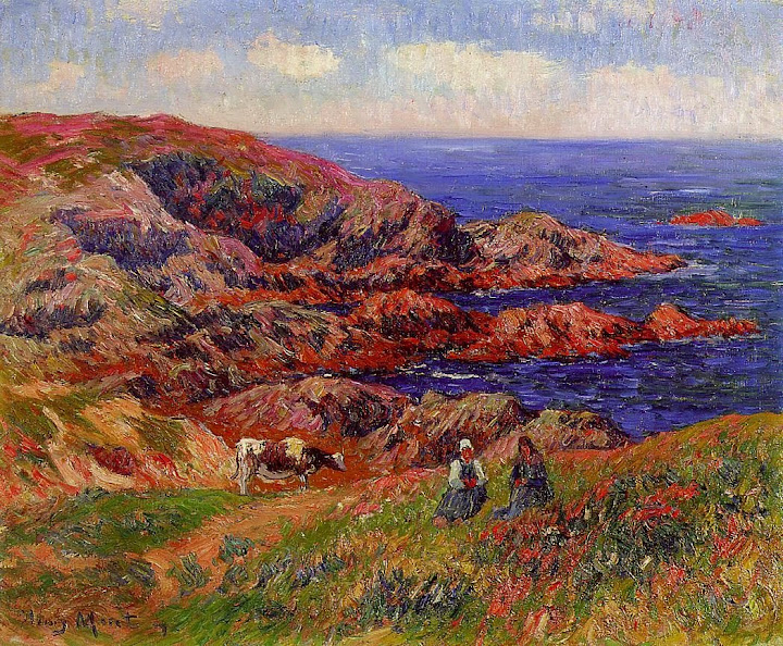 Henry Moret - Cliffs at Kerserol, Finistere, 1909