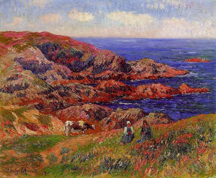 Henry Moret - Cliffs at Kerserol, Finistere, 1909