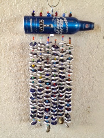 Lemon bean and things beer bottle cap wind chimes for What can i make with beer bottle caps