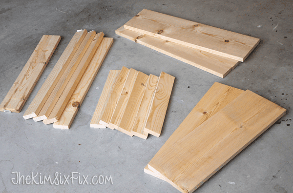 Supplies to build step stool bench