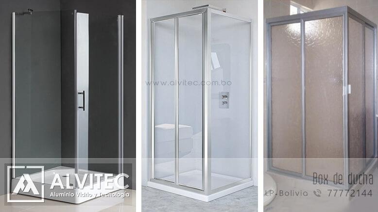 Box de ducha con aluminio y vidrio