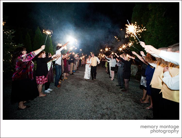 wedding sparklers cascade garden yakima wa