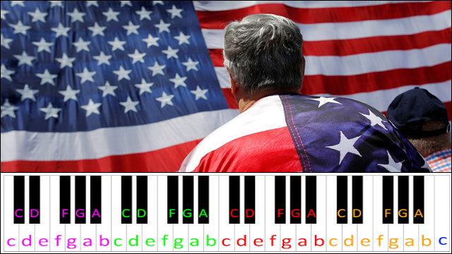 The Star Spangled Banner Usa National Anthem Hard Version Piano Letter Notes