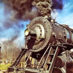 Locomotive Breath by Chris Montcalmo - Transportation Trains ( steam engine, railroad, locomotive, train, trains )