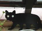 ガーデンアクセサリー:黒猫
