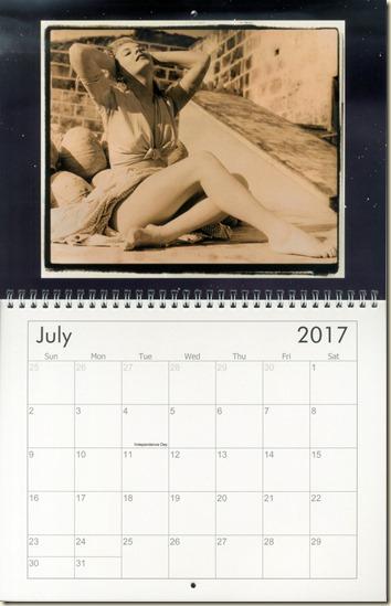 07 July - Eva Lynd calendar cover