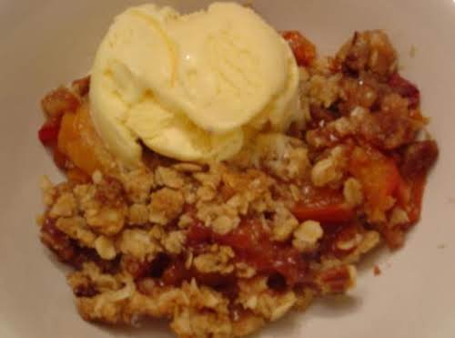 "Humble Peach Crumble ""This was fantastic! My husband has been bugging me..."