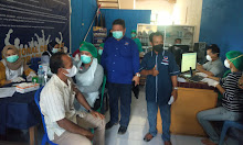Gandeng Dinkes, DPD Partai Nasdem  Sekadau Gelar Vaksinasi