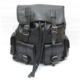 Saint Laurent Black Leather Backpack