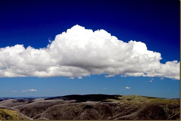 Clouds on Mount Bogong