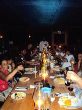 Photo: Muyuna's team sharing Chrismas Dinner with passengers /  El equipo Muyuna compartiendo la Cena de Navidad con los pasajeros
