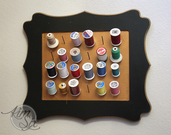 Pretty DIY spool organizer
