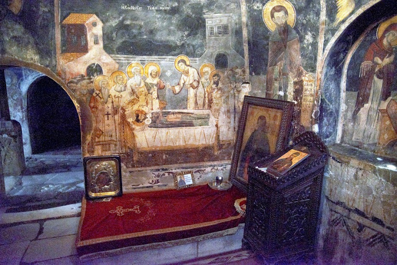30. The Tomb of Saint Naum in St. Naum Monastery. Ohrid