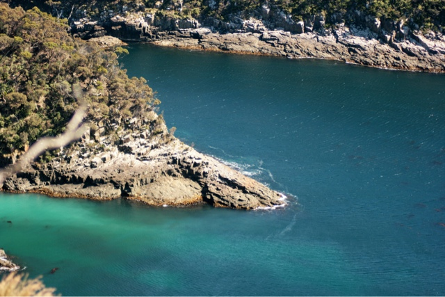 The water colour is magical in Brunny Island