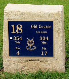 17050794 May 22 18th Hole T marker @ St Andrews