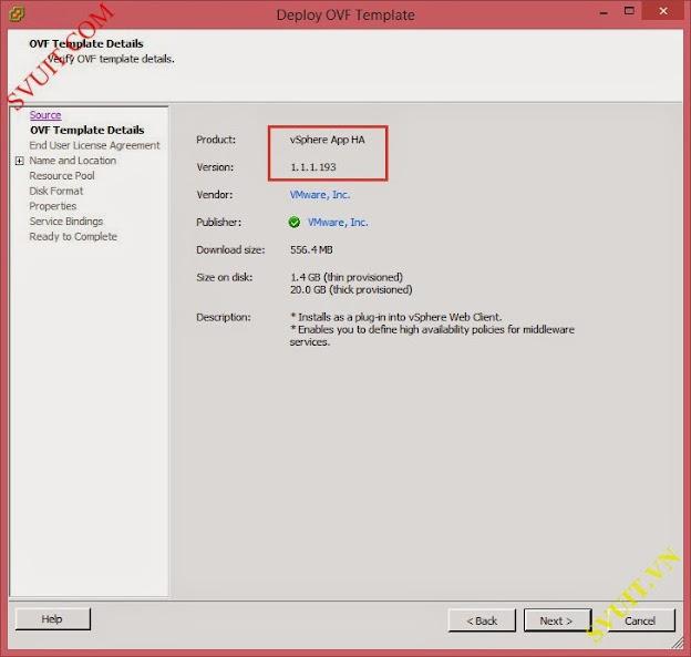 deploy vSphere App Ha (3)