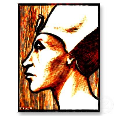Egyptian Gods Akhnaton Postcard, Egyptian Magic