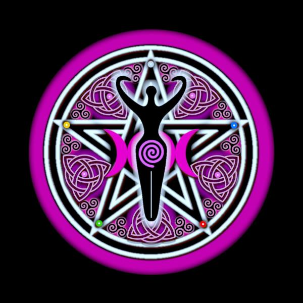 Pink Goddess Pentacle, Celtic And Druids
