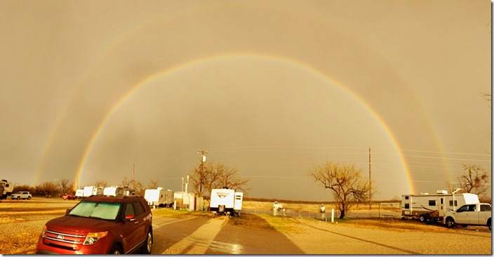 Double Rainbow over Pearl of the Concho