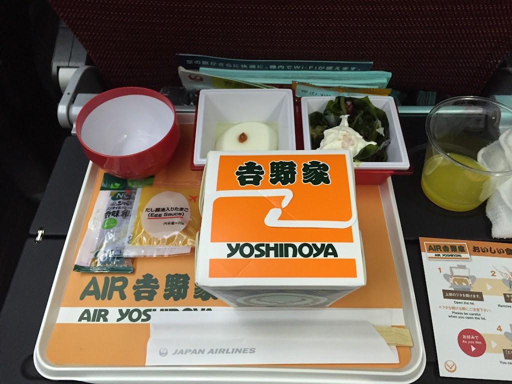 空の上で食べる牛丼「AIR吉野家」」