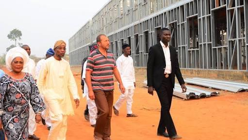 Ilesa Government High School under construction.