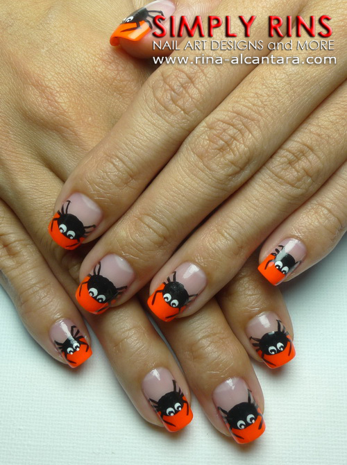 Spider Tips Nail Art Design - Nail Art: Spider Tips Simply Rins