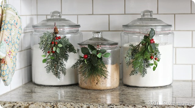 christmas baking jars