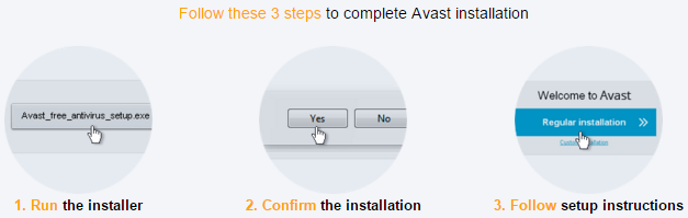 3 Steps to complete Avast antivirus installation
