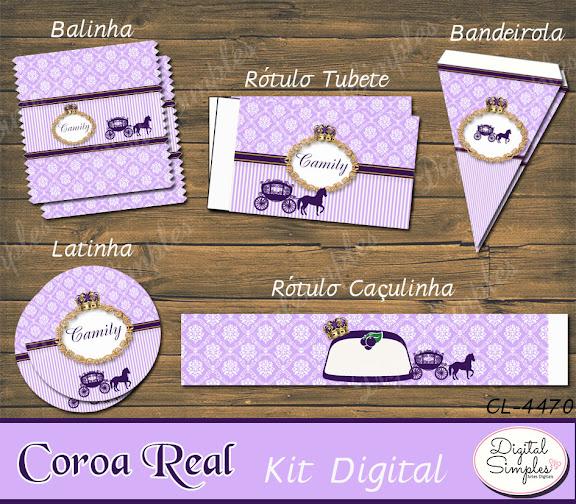 Kit Digital Coroa Real  .....artesdigitalsimples@gmail.com