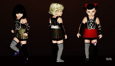 My Sims 3 Blog: Toddler's Punk Clothes by Watermelon