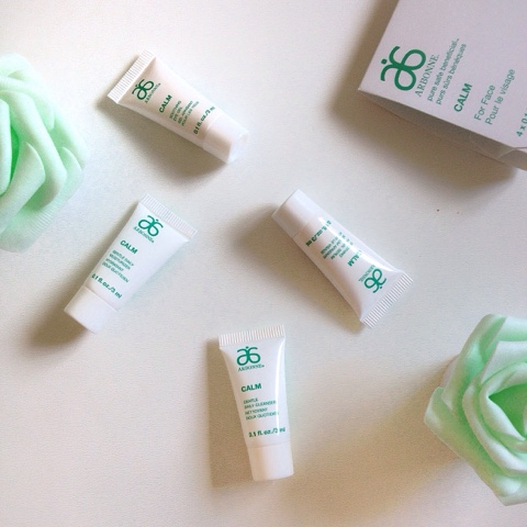 Arbonne Skincare Samples From Their Calm Range