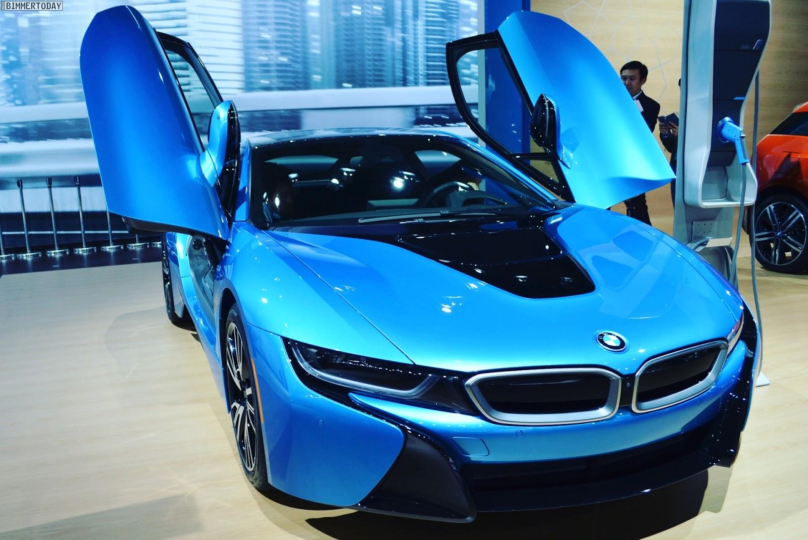 Unveiling The Chrome Blue Bmw I8 Electric Car