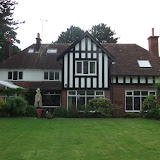 Tudor mansion recently renovated externally (rear)
