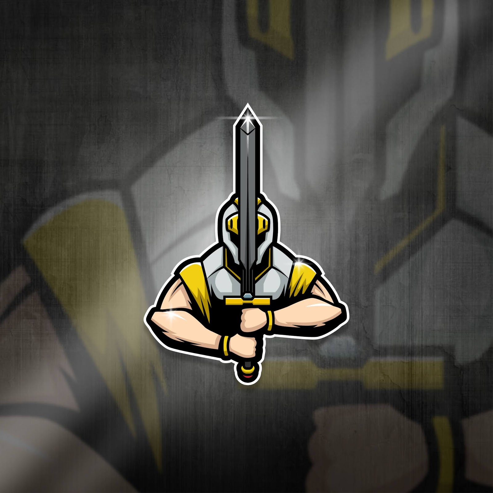 Esports Mascot Logo Team Knight Squad Free Download Vector CDR, AI, EPS and PNG Formats