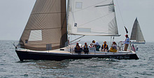 J/105 sailing FIGAWI Race to Nantucket- Vineyard Vines special