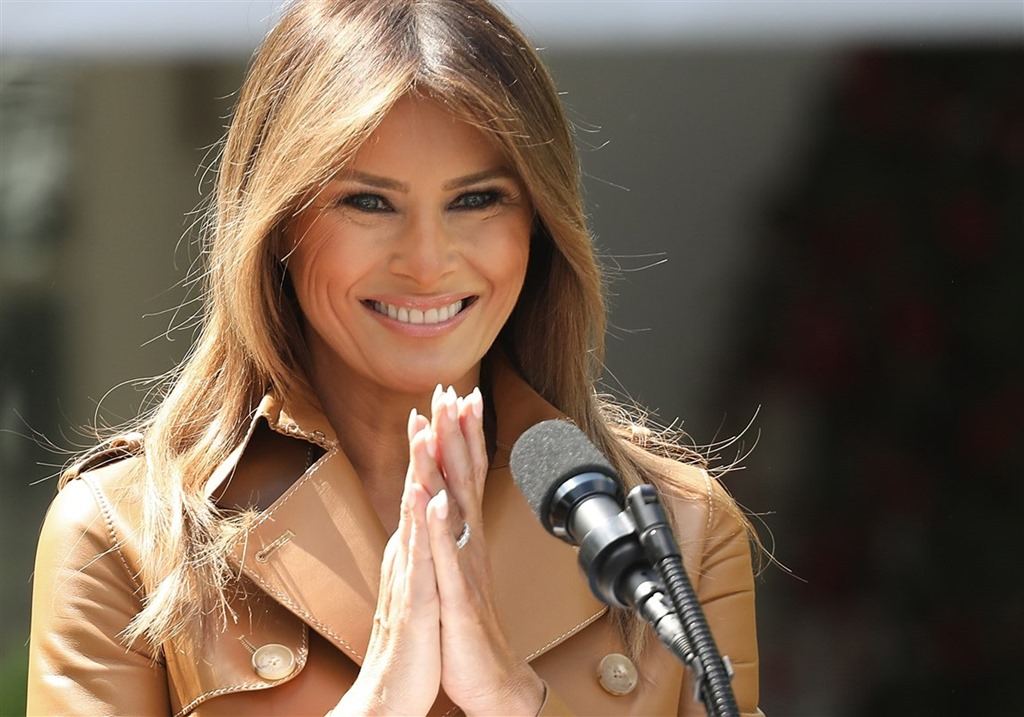 [First-Lady-Melania-Trump-Speaks-On-The-Launch-Of-Her-Initiatives-In-The-Rose-Garden-Of-White-House%5B4%5D]